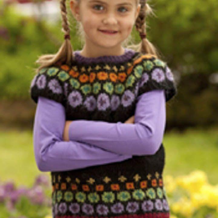 strikket børnevest