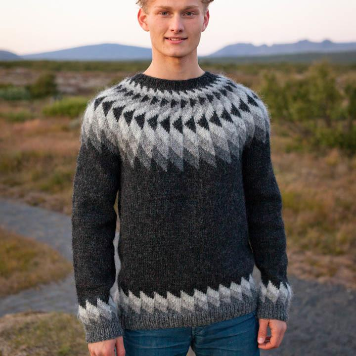 herre strik sweater