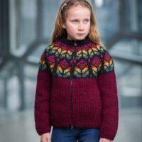 Blómey 34-14 istex børnestrikkeopskrift - Nordisk Garn