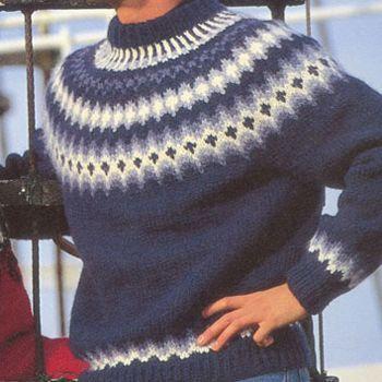 Istex strikkeopskrift 12-20 Herre sweater - Nordisk Garn